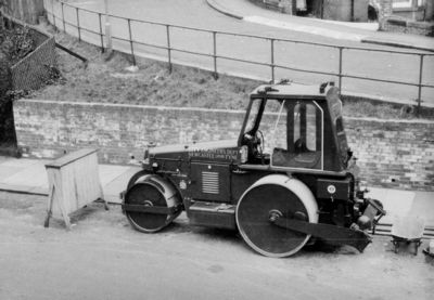 Aveling Barford Road Roller, Newcastle, 1965